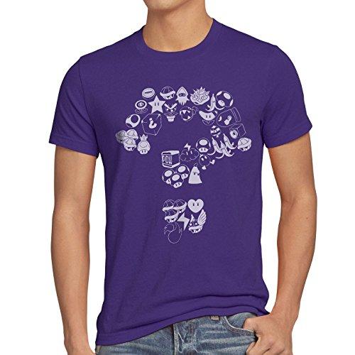 Level Vidéo t Jeu World Console Violet T shirt Items A Mario Super Homme n xUqpwzR10