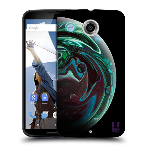 Head Case Designs Emerald Acrylic Pour Planets Hard Back Case Compatible for Motorola Nexus 6 / Nexus X
