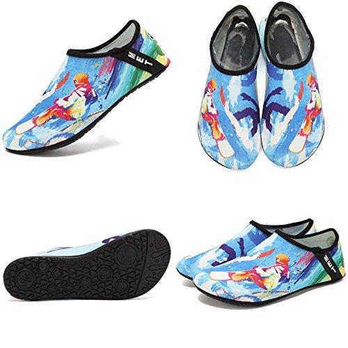 Cior Leggero Aqua Calze Quick-dry Water Shoes Mutifunzionale A Piedi Nudi Per La Piscina Da Spiaggia Surf Yoga Esercizio Sx-surfing-42/43