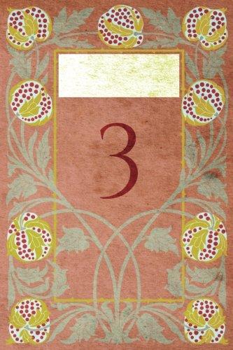"Read Online Monogram ""3"" Notebook: Blank Journal Diary Log (Monogram NouveauThree 150 Lined) (Volume 29) pdf epub"