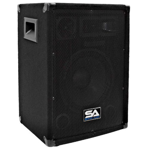 Seismic Audio - Pair of 10'' PA DJ Pro Audio Band Speakers 200 Watts - Use as a Main or a Monitor - Karaoke by Seismic Audio