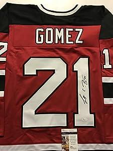 Autographed/Signed Scott Gomez New Jersey Devils Red Hockey Jersey JSA COA