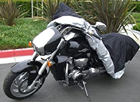 Formosa Covers Heavy Duty Motorcycle Cover (XL) with Cable & Lock. Fits up to 94