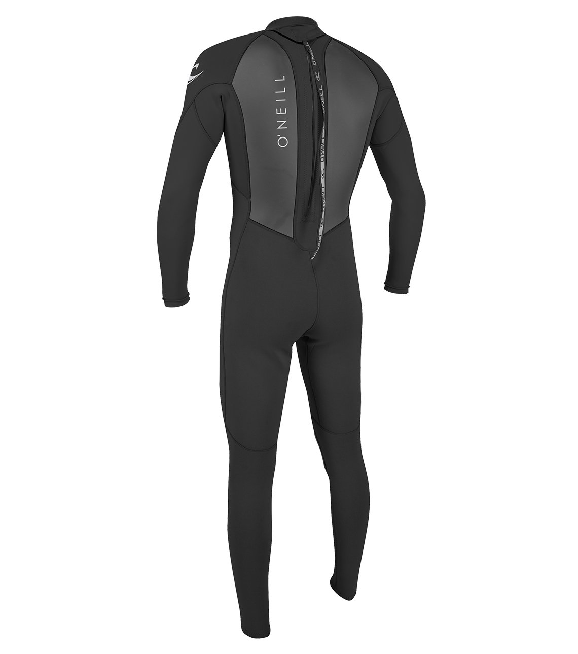 O'Neill Men's Reactor II 3/2mm Back Zip Full Wetsuit, Black, Small by O'Neill Wetsuits (Image #2)