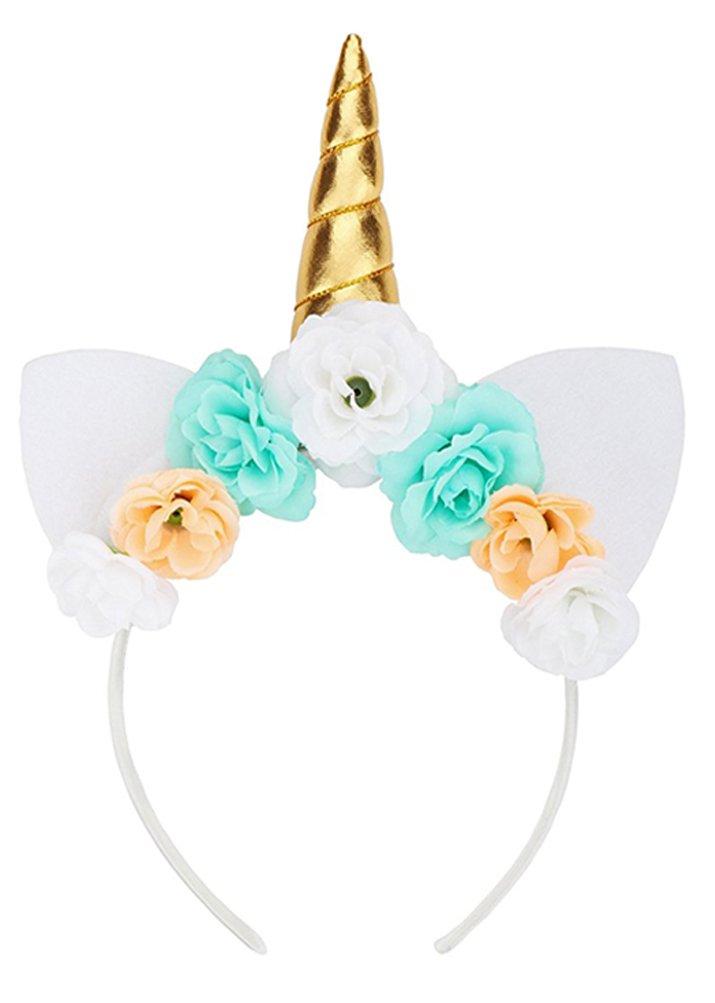 6 PCS b/éb/é licorne corne bandeaux anniversaire halloween no/ël cosplay chapeau bandeau avec des paillettes et des oreilles