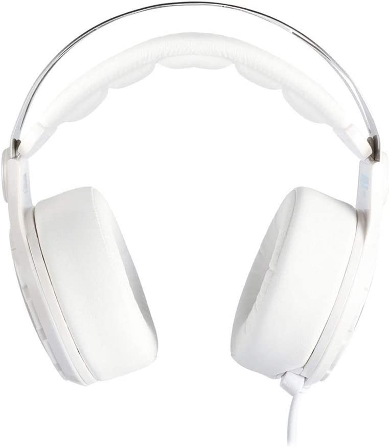 QJGhy Gaming Headset Gaming Headset Wired USB Gaming Headphones 7.1 Channel Adjustable Microphone for PC//Laptop Over Ear Headphones Headset Color : White