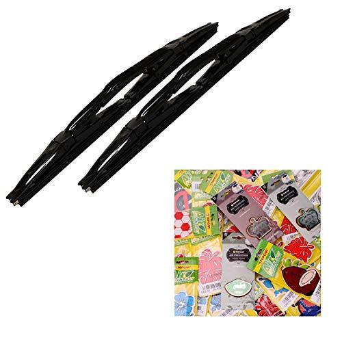 2 Dual Chrome 18 Inch Black Blade Wiper and a Surprise Air -