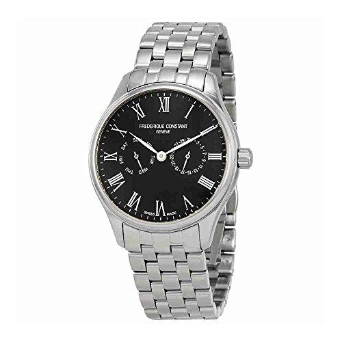 Frederique Constant Mens Classic Black Dial Bracelet Watch FC259BR5B6B