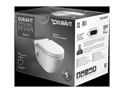 Duravit Starck 3 WC Klo Set Kombipack Tiefspül WC + Deckel mit Absenkautomatik