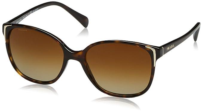 Amazon.com: Prada Sunglasses - PR01OS / Frame: Havana Lens: Polar ...