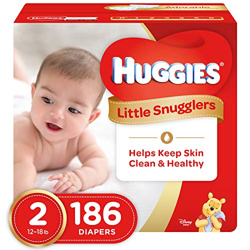 HUGGIES Little Snugglers Baby Diapers, Size 2, for 12-18 lbs