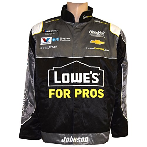SMI Properties Jimmie Johnson 2018 Lowe's Uniform NASCAR Pit Jacket (Jimmie Johnson Nascar Jackets)