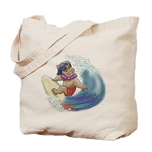 CafePress–Surfista hawaiano–Gamuza de bolsa de lona bolsa, bolsa de la compra Small caqui