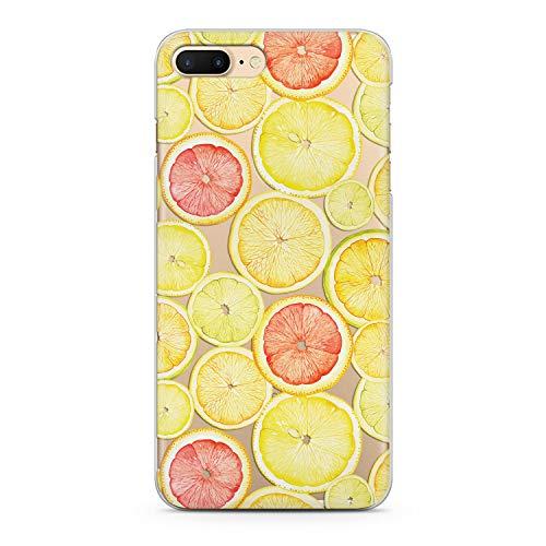 Lex Altern Case iPhone Max Xs X 8 Plus 7 6s 6 SE 5s 5 TPU Cute Citrus Clear Silicone Lemon Apple Pattern Phone Yellow Cover Fruit Transparent Print Protective ()