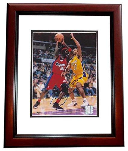 Autographed Darius Miles Photo - 8x10 MAHOGANY CUSTOM FRAME - PSA/DNA Certified - Autographed NBA Photos