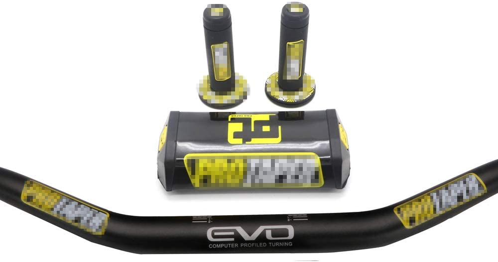 "Handlebar PRO Taper Pack Fat Bar 1-1//8/"" Dirt Pit Bike Motocross Motorcycle"