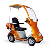 4-Wheel Scooter with Electromagnetic Brakes in Orange