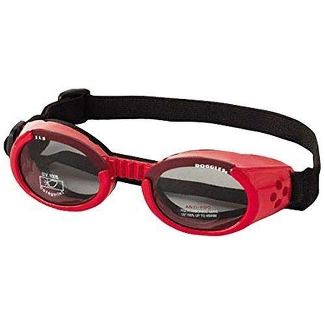 Doggles - ILS Extra Small Shiny Red Frame / Smoke Lens by Doggles