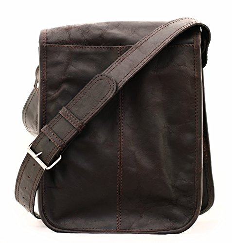 Vintage Shoulder Unisex Dark Retro Bag Messenger Brown Paul amp; Leather s Marius YgAqt