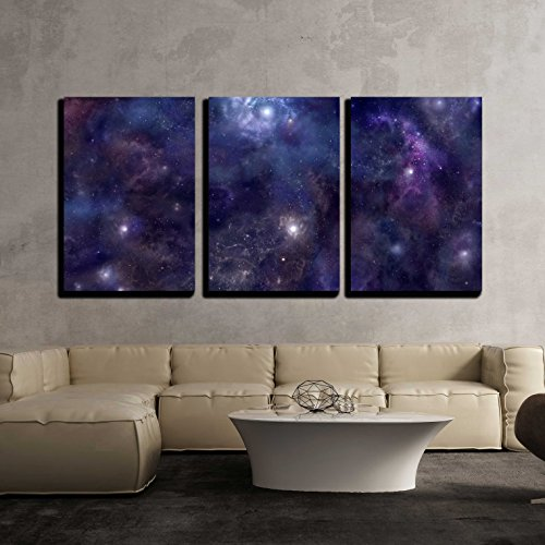 Deep Space Wide Background Website Header x3 Panels