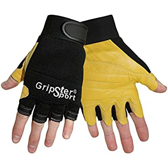 Global Glove SG2000 Gripster Goatskin Premium Grade Fingerless Glove with Padding for Impact, Work, 2X-Large (Case of 72)