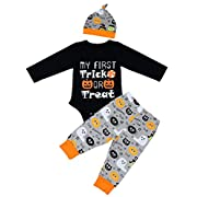 Baby Girl Boy Clothes Romper Outfits Halloween Funny Bodysuit and Pants Winter Sets 3PCS