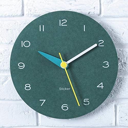 壁時計キッチンクォーツ時計木製素材ミュート漫画壁時計ファミリーリビングルーム
