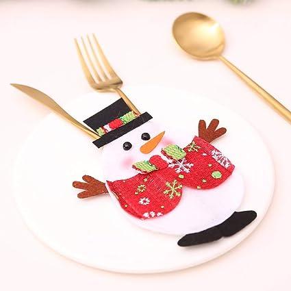 Hemore Decoración de Navidad Q versión de la Bolsa de cuchillería Creativa casa cubertería Set de