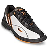 KR Strikeforce Women's Hammer Vixen Left Handed Bowling Shoes, White/Black/Orange, Size 9