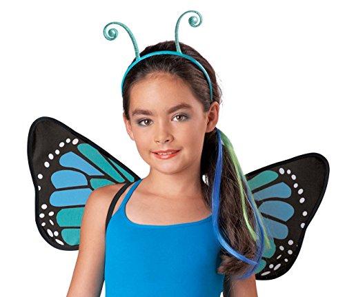 Seasons Butterfly Costume Accessory Set, Blue - Blue Monarch Butterfly Wings Costume