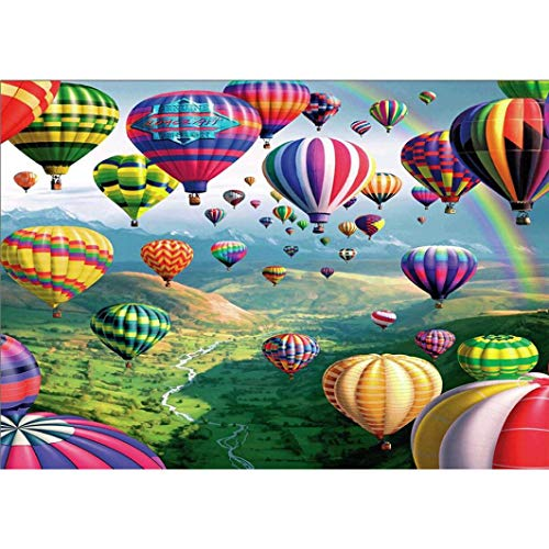 DIY 5D Diamond Painting Kit,Yezike Hot Air Balloon Embroidery Full Diamond Embroidery Rhinestone Cross Stitch Arts Craft Supply for Home Wall Decor (E) -