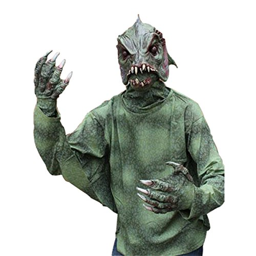 Zagone Sea Creature Monster Adult Halloween Costume - Sea Monster Green