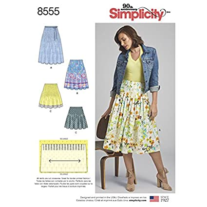 Amazon Simplicity Pattern 40 Misses' Pleated Skirts Size 4040 Inspiration Pleated Skirt Pattern