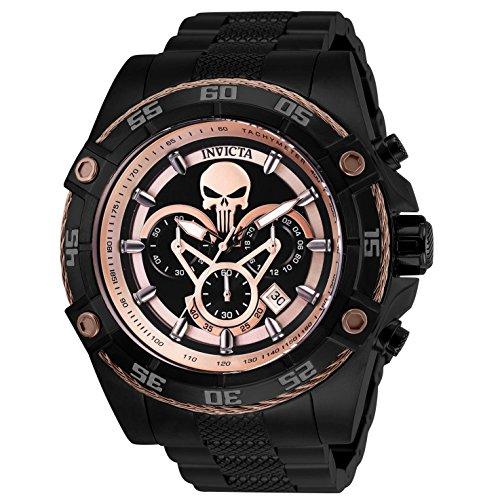 Invicta Marvel Chronograph Black Dial Mens Watch 26866 ()