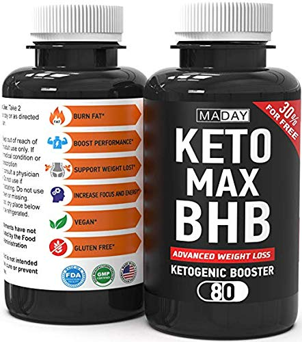 Keto Burn Weight Loss Pills | Keto Pills Fat Burners for Women and Fat Burners for Men | Keto Supplements for Ketosis and Keto Fat Burner Pills, Keto Pills Diet | 80 Capsules by MadayFormula
