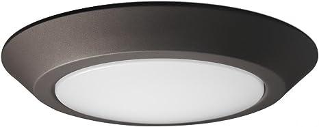 """Nuvo 10/"""" LED Flush Mount Fixture Disc Light White Finish 4000K"""