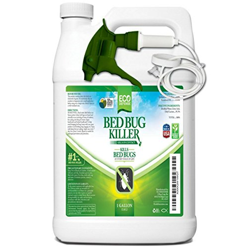 Eco Defense Bed Bug Killer, Natural Organic Formula Fastest (1 Gallon) by Eco Defense