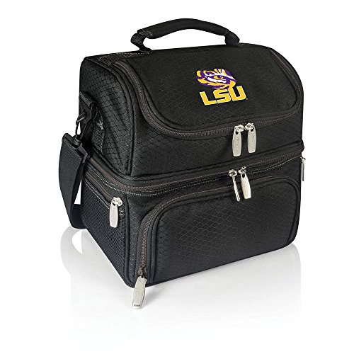 NCAA LSU Tigers Pranzo Insulated Lunch Tote, Black