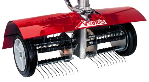 Mantis 5222 Power Tiller Dethatcher Attachment for Gardening (Power Rake Grass)