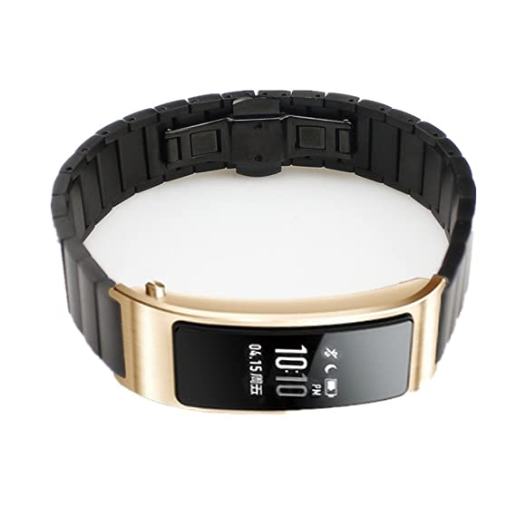Pinhen Huawei Talkband B3 Milanese Stainless Steel Replacement Watch Band Strap Geniune Leather Band Wrist for