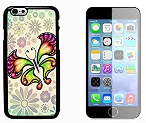 Butterfly Design Hard Plastic and Aluminum Back Case FOR Apple iPhone 6 6G 4.7