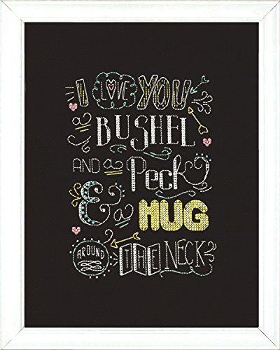 Design Works Crafts 2888 Hug Chalkboard Counted Cross Stitch Kit, 8 by 10