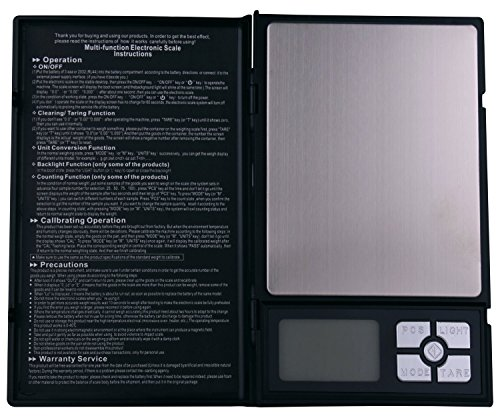 NVTED Notebook Digital Scale, 2000g in 0.1g Stainless Steel Digital Pocket Scale for Kitchen, Jewellery Shop,Laboratory