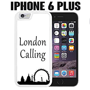 iPhone Case London Calling Silhouette for iPhone 6 PLUS Plastic White (Ships from CA)