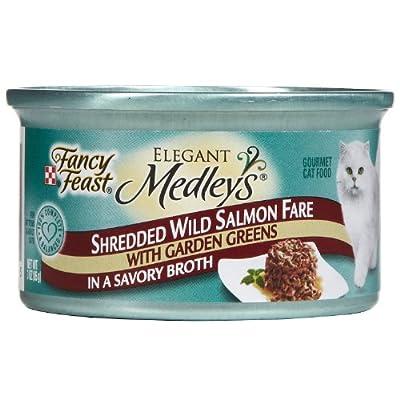 Click for Fancy Feast Elegant Medleys - Shredded Wild Salmon Fare - 24 x 3 oz