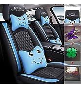 Maidao Custom Car Seat Cover- 5-Seat Luxury PU Leather Cushion-Full Set - Customize The Picture -...