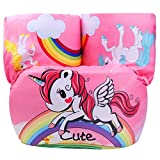 Jellydog Toy Swim Vests, Unicorn Baby Floats for Pool,Kids Life Jacket from 30 to 50lbs, Learn-to-Swim Vest with Arm Wings for Boys and Girls, Pink