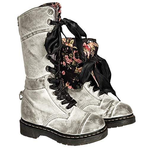 Sólido Alto Botas Color Largas Altas Plana Casual Zapatos Pierna Negro Otoño returom Largo Ante Casuales De Invierno Alta Mujer Botines Gris Plano Mujer qatTZw