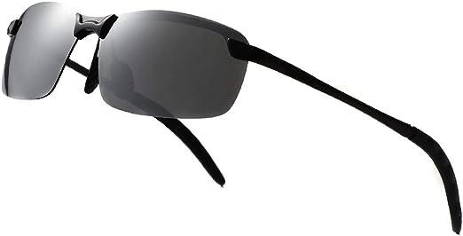 Mens Women Metal Frameless Mirorred Rectangular Driving Outdoor Sport Sunglasses