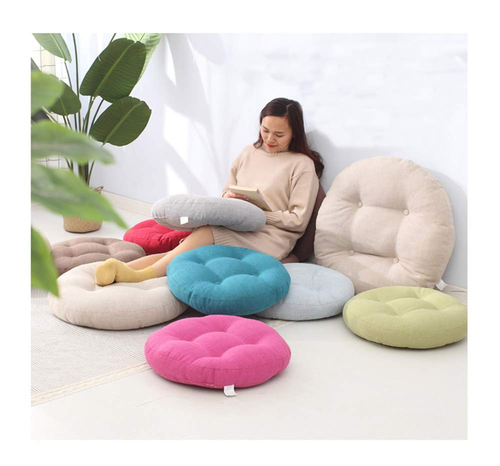 Jingxin - Cojín Redondo de Lino para futón o Silla, para Ventana ...